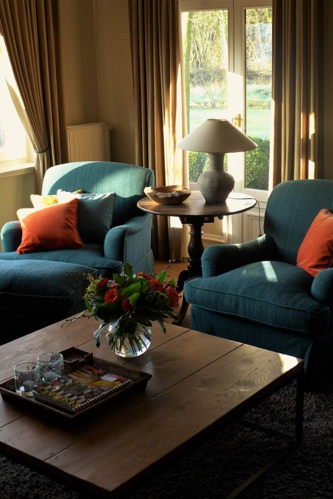fauteuils blauw