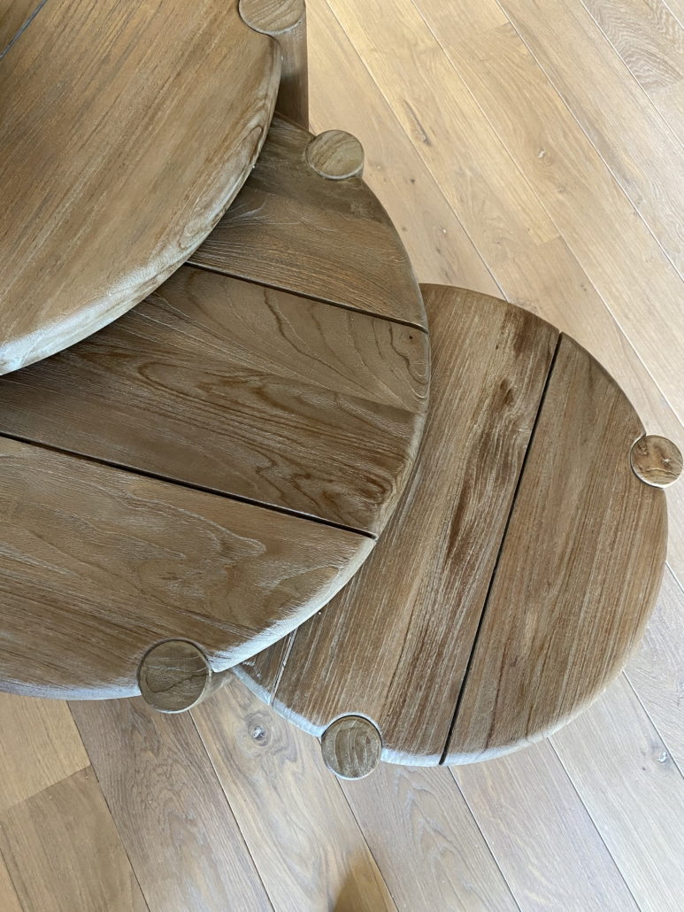 houten bijzettafeltjes