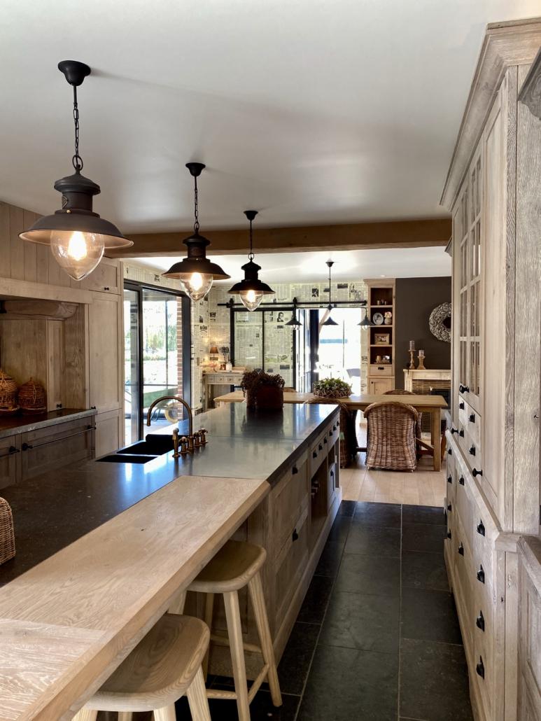 keuken landelijk industriële lampen